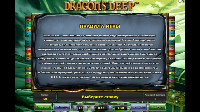 Онлайн автомат Dragon's Deep